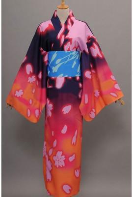 VOCALOID 初音ミク 歌姫計画F 巡音LUKA浴衣 和服 コスプレ衣装