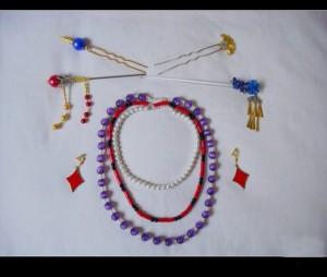 ファイナルファンタジー10 ルールー コスプレ 髪飾り ネックレス アクセサリー