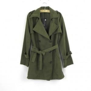 ロング ミリタリー コート 韓国ファッション アウター ウエストリボン