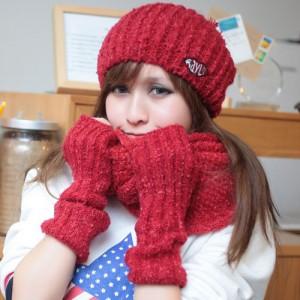 2013セットあったか 韓派 マフラー 帽子 マフラー 手袋 3セットカップル