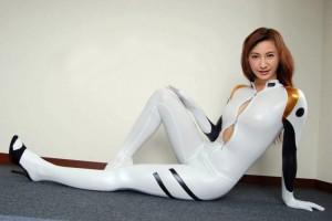 新世紀エヴァンゲリオン 白色の戦闘服風コスプレ衣装