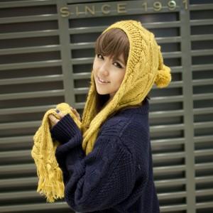 毛糸帽子 韓国韓派マフラー 秋冬レディース冬ニット帽マフラー