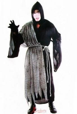 ハロウィーン用 幽霊ドクロ悪魔 仮装 蜘蛛柄のハロウィーン衣装