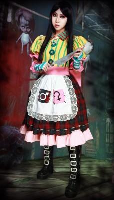 アリスマッドネスリターンズ風洋服 高品質コスプレ衣装
