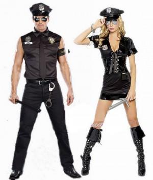 ハロウィーン ペアルック  カップル 警察制服 演出服 ハロウィーン コスチューム