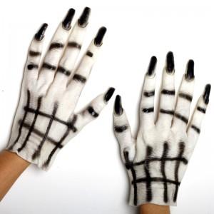 ハロウィン 装飾 仮面舞踏会用品 おばけ仮装 白い女鬼手袋