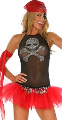 セクシー メッシュ 海賊コスチューム衣装