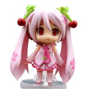 可愛いピンクの初音ミク キャラクター アクション フィギュア