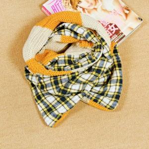2013秋冬新品韓国風カワイイチェック柄毛糸防寒用ロングマフラーストールリバーシブル女