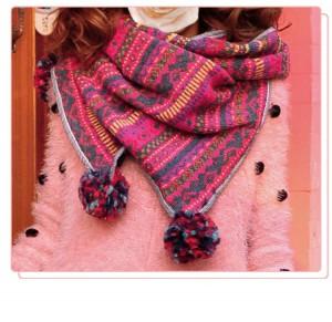 冬新品欧米風カワイイ女 フリンジ厚手ニット編み込みマフラーストール