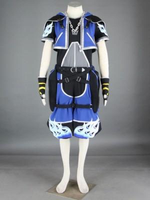 キングダムハーツ ソラ2代 ブルー コスプレ衣装 9セット