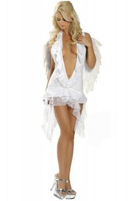 セクシーランジェリー ホワイト エンジェルコスチューム衣装