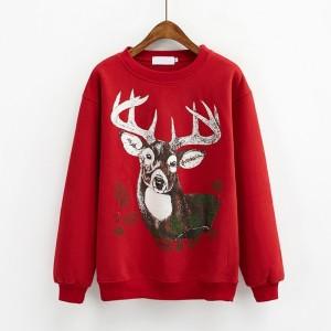 クリスマスカーバ 親子服 クリスマス鹿柄 レッド クリスマスコスプレ衣装