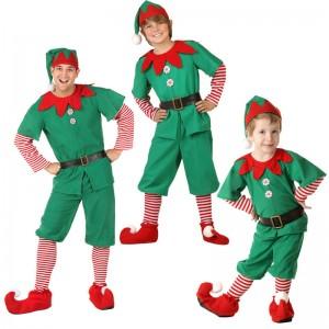 親子服 カップル ハロウィン クリスマス  舞台服 グリーン 精霊 コスチューム