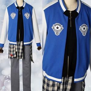 ヒプノシスマイク -Division Rap Battle- 山田 二郎 コスプレ衣装 青色ジャケット日常風