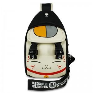 「夏目友人帳」 ニャンコ先生 斑(まだら)ショルダーバッグ  斜めがけバッグ ウェートポチ アウトドアスポーツバッグ