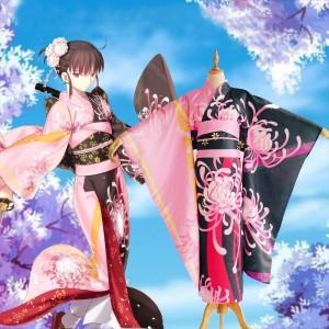 Fate grand order 空の境界 両儀式(りょうぎ しき)  ヒガンバナ 着物 花火大会 花見 イベント 和服 コスプレ衣装