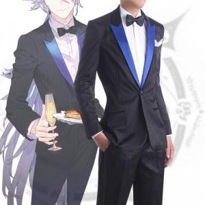 Fate GrandOrder マーリン アヴァロン・セレブレイト 黒 スーツ コスプレ衣装