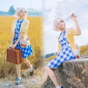 Fate/Grand Order マシュ·キリエライト 日常服 コスプレ衣装 マシュ 私服 日常 チェック柄