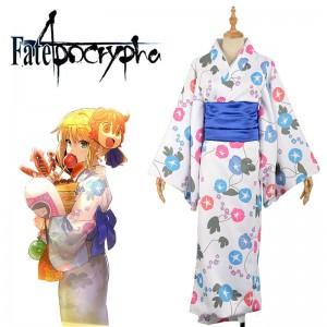 Fate/Grand Order アルトリア・ペンドラゴン セイバー コスプレ衣装 着物 浴衣