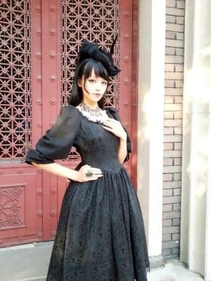 ロリータ服新品 レディース ブラック ゴスロリ ドレス  ヨーロッパ宮廷衣装