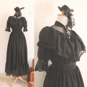 ブラックゴスロリ ドレス ロリータワンピース コスチューム