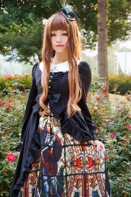 プリントゴスロリドレス レディース ロリータ服 ヨーロッパ宮廷衣装 コスチューム
