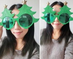 クリスマスツリーメガネ めがね パーティーグッズ 仮装 変装 装飾 メガネ
