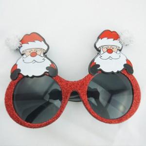 クリスマス装飾新品 サンタメガネ パーティー用変装メガネ
