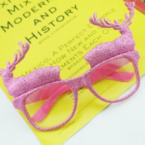 クリスマスデコレーション パーティー用変装メガネ 注目の鹿角メガネ