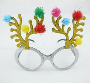 クリスマスパーティー用変装メガネ ろっかくメガネ イベント 装飾グッズ