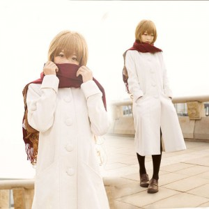 とらドラ! (TIGER×DRAGON)! 逢坂大河 クリスマス白いコート コスプレ衣装