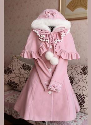 lolitaウールコート 洋装 スカート コート ショールを贈呈