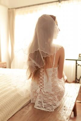 白色レース 花嫁服 手袋 可愛い 新婚プレゼント エロ下着 セクシーランジェリー
