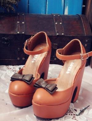 蝶結びハイヒール 厚底靴 レディース靴