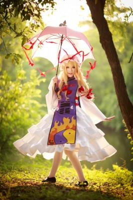 東方Project  八雲紫風 (やくもゆかり) コスプレ衣装