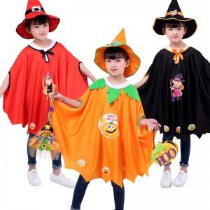 ハロウィン 子供用 マント カボチャ コウモリ 魔法 衣装