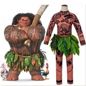モアナと伝説の海 ディズニー マウイ ハロウィン 大人用 子供用 コスチューム