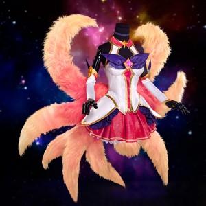LOL リーグ・オブ・レジェンズ アーリ 九尾の狐 コスプレ衣装 Ahriコスチューム