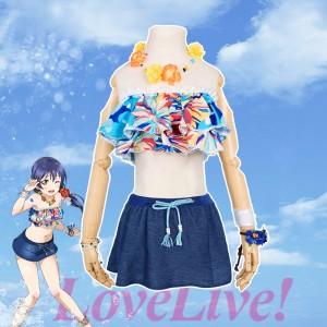 love live ラブライブ!園田海未 そのだうみ 水着 覚醒  コスプレ衣装 コスチューム