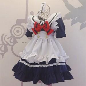 メイド服 荷葉フリル スカート 萌え萌え 姫様 コスプレ衣装