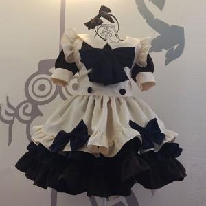 メイド服 コーヒー 荷葉フリル 4点セット スカート コスプレ衣装 Lolita