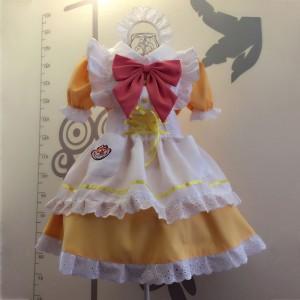 メイド服 黄色 荷葉フリル スカート コスプレ衣装 Lolita アリス・イン・ワンダーランド