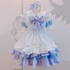 クリスマス 可愛い メイド服 萌え 荷葉裾 セット