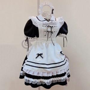 2021新品メイド クラシック 黑白 メイド服