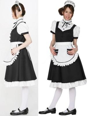 正統派野のメイド服通販 短袖 黒&白衣装
