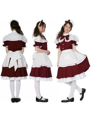 薔薇の様な赤色 エレガントメイド服通販 コスチューム衣装