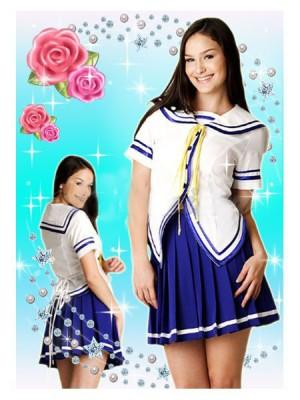 コスプレ衣装・グッズ関連・セーラー系 セーラー服・リボン(半袖)