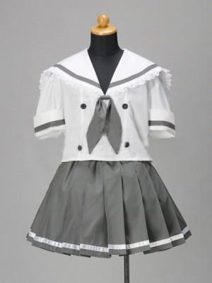 Cosplayらき☆すた 小神あきら/制服/夏服風コスプレ衣装