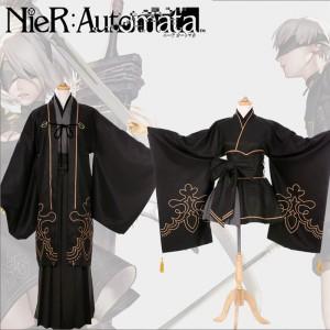 ニーア オートマタ NieR:Automata ヨルハ二号B型 9s 2b コスプレ衣装 和服 浴衣 全セット